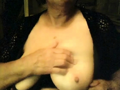 granny with saggy baps on