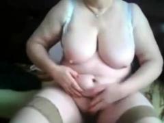 grandmother on webcam