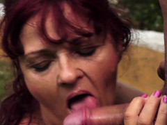 Redhead   pounded outdoors