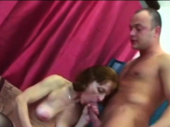 Succulent girl  into riding big man-meat