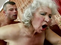 Grandma Norma gargles and penetrates her granddaughter's fiance