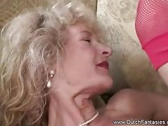 Pierced Dutch Grannie Fuck From Holland