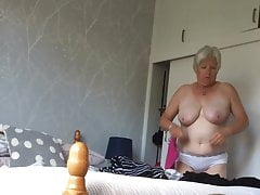 Busty mature caught switching again.