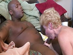Granny Worships the  man. Blow Job Scene.