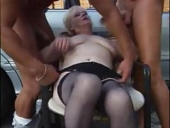 Grannny 3some outdoor