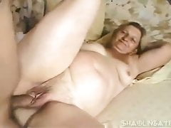 Round granny gets assfucked