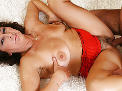 hairy moms very first big cock fucking