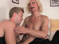 Molten blonde mature girl loves riding his big spear