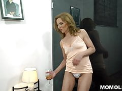 Unshaved Mature Pussy Filled With Big Dick