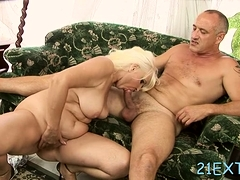 Stud ravages blonde maiden Marianne with large mammories