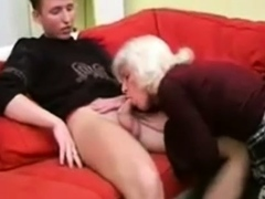 elder bang-out amateur granny gives blowjob