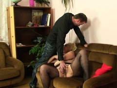 Hairy blondie mommy super-naughty photosession and taboo sex