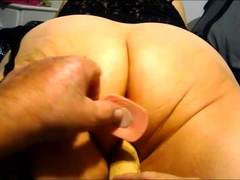 working her 10 inch fuck stick to a  orgasm