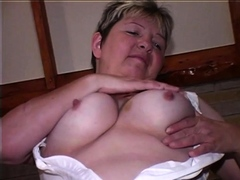 Old dirty  Granny does masturbate and fun with herself