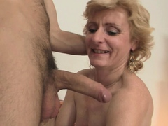 Petite tits mature blonde   for him