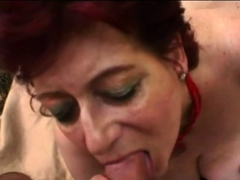 Grandmother babe is deep throating a enormous prick