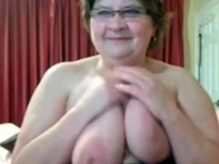 Busty BBW Grannie On Cam BVR