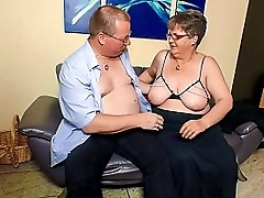 XXX OMAS - BBW granny with glasses home fucking