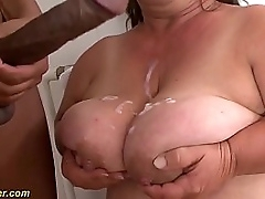 soft vine bbw midget houswife granny gets rough big black load of shit interracial fucked in crazy flexible sex positions