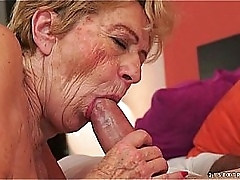 Unconventional old granny Malya loves chunky dick
