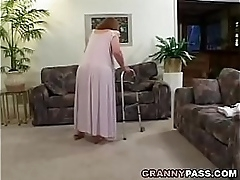 Redhead Granny Proves The brush Skills