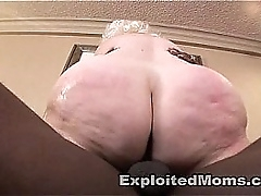 Thick BBW Mature Ass takes a Beamy Black Cock forth Granny Sex Video