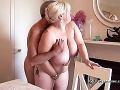 Super granny fucked and bottled by partygoer