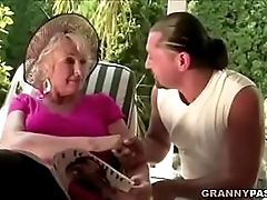 Granny Fucks New Yoga Motor coach