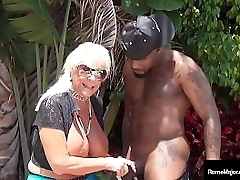 Back once was an venerable descendant that swallowed a cock... Granny Mandie McGraw mounts heavy black flannel Rome Major in this dock shagging interracial young/old clip! Hyperactive Flick & More Chicks @ RomeMajor.com!