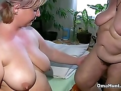 Fat granny shares a dildo approximately a bbw helter-skelter a prepare oneself of selection positions
