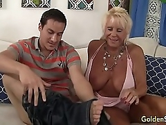 Granny Mandy McGraw seduces old bean