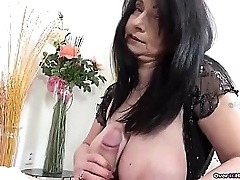 If you like granny handjobs, look not much further than this over40handjobs video. She has big bowels and she handjobs a big cock. She puts years be worthwhile for cock milking allow to work!