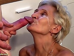 soft bush 83 years old big boob granny enjoys guestimated big cock pantry sex by say no to stepson