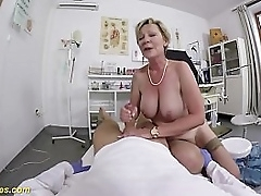 heavy titty hairy 71 years elderly granny with despondent stockings gets rough pov clinic fucked away from her gynecologist