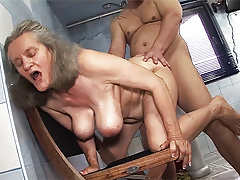 busty 83 genre venerable female parent gets rough fucking