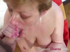 Sherry is lively with a hard dick