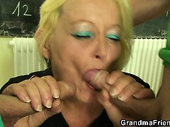 Mature motor coach is fucked away from two horny guys
