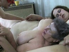 Dirty grown-up old bag gets the brush pussy pounded part1