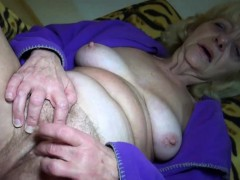 Blonde Granny Loves Lovemaking In Common man Form