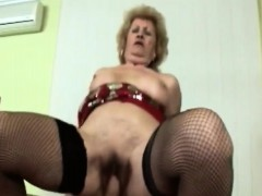 Busty blonde granny agreeable long stop-go cock