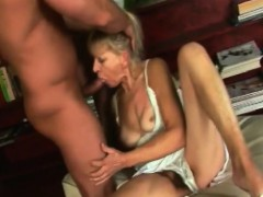 Blonde Granny Inci Gives Head And Rides Schlong
