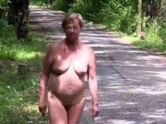 Mature stripped outside