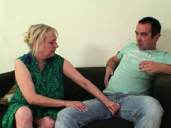 Horny wifes elderly mom seduces him