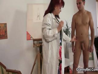 Of age paintress takes it from helpless