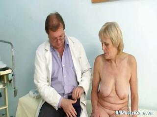 Of age old Brigita getting pussy exam foreigner experienced gyno doctor