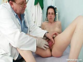 Of age Helena disparaging hairy pussy examination