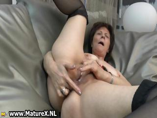 Elder matured lady loves round finger part6