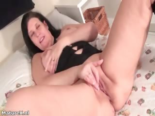 Horny night-time mature woman laying part4