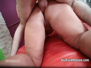 Fat old mature lady loves property fucked part4