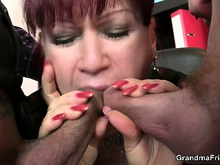 Hot relationship lady takes two dicks